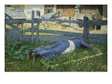 Resting Place in the Shade, 1892 Prints by Giovanni Segantini