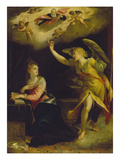Annunciation, 1605 Print by Hans von Aachen