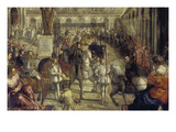 The Entering of Philipp Ii. in Mantua 1549. from the 2. Sequence of the Gonzaga-Series Giclée-tryk af Domenico Tintoretto