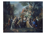 Allegory of the Reunion of Elector Max Emanuel with His Family, 1715 Giclée-Druck von Joseph Vivien