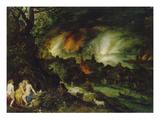 Sodom and Gomorrha (Lot and His Daughters) Kunstdrucke von Jan Brueghel the Elder