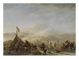 Winterlandschaft Mit Eisbahn Giclee Print by Philips Wouwerman