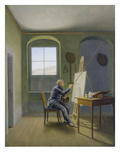 Caspar David Friedrich in His Studio, 1819 Giclee Print by Georg Friedrich Kersting