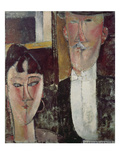 Bride and Groom (The Couple), 1915/16 Giclee Print by Amedeo Modigliani