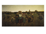 Calling in the Gleaners (Le Rappel Des Glaneuses), 1859 Art by Jules Breton