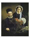 Portrait of Monsieur and Madame Auguste Manet, the Artist's Parents, 1860 Giclee Print by Édouard Manet