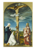Kreuzigungsaltar, Mitteltafel: Christus Am Kreuz Mit Maria, Johannes Ev., Maria Magdalena, 1519 Poster by Hans Burgkmair