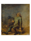 The Smell (Two Smoking Farmers at the Fire Place) Giclee Print by Adriaen Brouwer