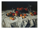 Still-Life with Apples, Wine Glass and Pewter-Jug, about 1876 Giclee Print by Carl Schuch