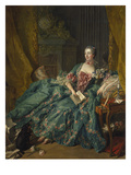 Portrait of Madame De Pompadour, 1756 Posters by Francois Boucher