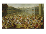 The Rape of the Sabine Women Print by Claude Deruet