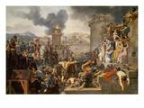 Die Belagerung Einer Stadt Durch Metellus. Entstanden 1805 Giclee Print by Armand Charles Caraffe