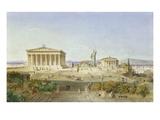 Die Akropolis Von Athen Zur Zeit des Perikles 444 V.Chr, 1851 Wydruk giclee autor Ludwig Lange