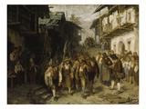 Das Letzte Aufgebot. (Skizze), 1872 Giclée-Druck von Franz Von Defregger