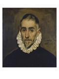 Portrait of a Nobleman, about 1585/90 Giclée-tryk af  El Greco