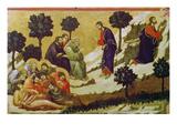 Christus Und Die Schlafenden Juenger Am Oelberg Print by  Duccio di Buoninsegna