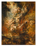War in Heaven Poster von Peter Paul Rubens