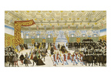 Wedding of Wilhelm V. of Bavaria with Renate of Lorraine, 1568. Dance And Giclee Print by Nikolaus Solis