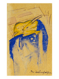 Der Traumfelsen, 1913. Auf Postkarte an Else Lasker-Schueler Giclee Print by Franz Marc