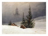 Winter Landscape with Church, 1811 Posters by Caspar David Friedrich