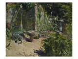 Sunny Corner in the Garden of Neukastel, 1921 Giclee Print by Max Slevogt