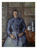Woman with Coffee Pot (Femme a La Cafetiere), about 1890-95 Giclee Print by Paul Cézanne