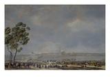 Die Schlacht Bei Braunau (Oder: die Einnahme Von Braunau Am 28. Okt, 1805), 1806 Giclee Print by Wilhelm von Kobell