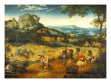 The Hay Harvest Gicléetryck av Pieter Bruegel the Elder