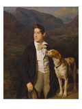 The Artist's Son with a Dog, 1836 Giclee Print by Ferdinand Georg Waldmüller