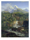 Der Watzmann, 1824 Giclee Print by Ludwig Richter