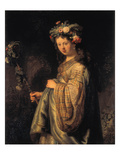 Saskia as Flora, 1634 Prints by  Rembrandt van Rijn