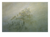 Foggy Morning in the Mountains Giclee Print by Caspar David Friedrich