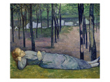 Madeleine in the Bois D'Amour, 1888 Giclee Print by Emile Bernard