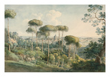 View from the Villa Melini of Rome, 1818/19 Giclee Print by Johann Georg von Dillis