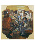 Bus-Interior (Omnibus Life in London 1859) Giclee Print by William Maw Egley
