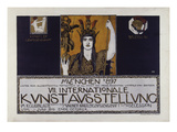 Original Poster for the Vii. International Art Exhibition 1897 Posters av Franz von Stuck