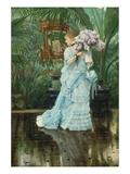 Lilac-Bouquet Giclée-Druck von James Tissot
