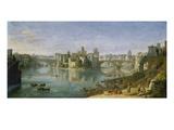 View of the Tiber Island, Rome, 1685 Kunstdrucke von Gaspar van Wittel
