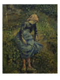 Girl with a Stick, 1881 Giclee Print by Camille Pissarro
