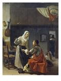 Brothel Scene, 1658 Lámina giclée por Frans Van Mieris