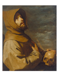 The Ecstasy of St. Francis, about 1660 Giclee Print by Francisco de Zurbarán