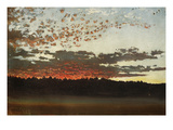 Sunset over a Marshy Landscape, Sweden, 1880 Giclee Print by Per Daniel Holm