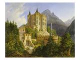 Hohenschwangau Castle, 1836 Giclee Print by Ferdinand Jodl