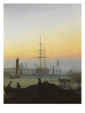 The Port of Greifswald Giclee Print by Caspar David Friedrich