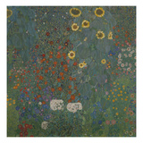 Farm Garden with Sunflowers, 1905/06 Posters by Gustav Klimt