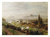 View of Florence, 1898 Reproduction procédé giclée par Oswald Achenbach