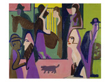 Street Scene at Dusk, 1929 Giclee Print by Ernst Ludwig Kirchner