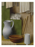 Still Life with Cat, 1923 Giclee Print by Georg Schrimpf