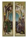 Kreuzigungsaltar. Aussenseiten Li.U.Re: die Hll.Sigismund Und Georg. Nadelholz Posters by Hans Burgkmair
