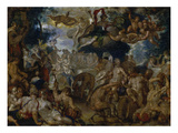 The Marriage of Peleus and Thetis Giclee Print by Joachim Wtewael or Utawael